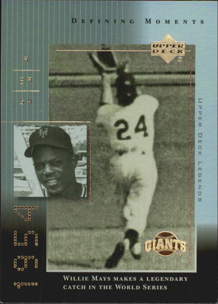2000 Upper Deck Legends Defining Moments #DM9 Willie Mays