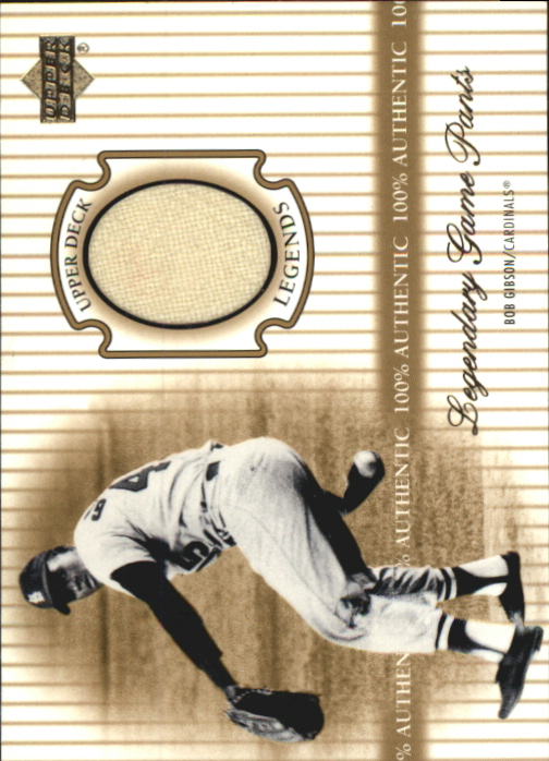 2000 Upper Deck Legends Legendary Game Jerseys #JBG Bob Gibson Pants