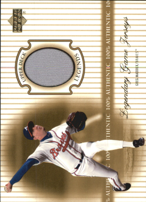 2000 Upper Deck Legends Legendary Game Jerseys #JGM Greg Maddux