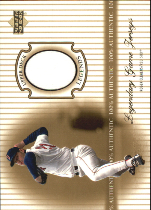 2000 Upper Deck Legends Legendary Game Jerseys #JRC Roger Clemens