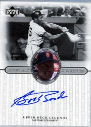 2000 Upper Deck Legends Legendary Signatures #SBB Bobby Bonds