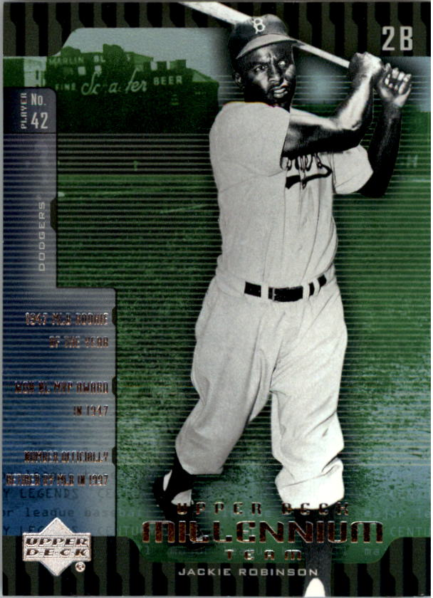 2000 Upper Deck Legends Millennium Team #UD2 Jackie Robinson