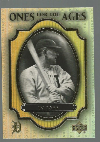 2000 Upper Deck Legends Ones for the Ages #O1 Ty Cobb
