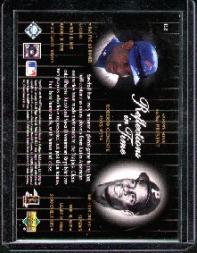 2000 Upper Deck Legends Reflections in Time #R2 S.Sosa/R.Clemente back image