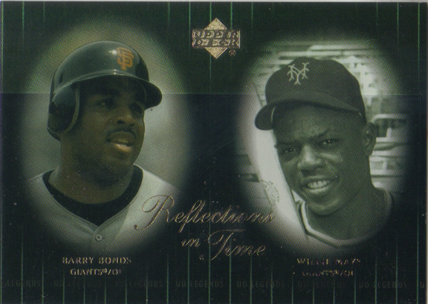 2000 Upper Deck Legends Reflections in Time #R7 B.Bonds/W.Mays