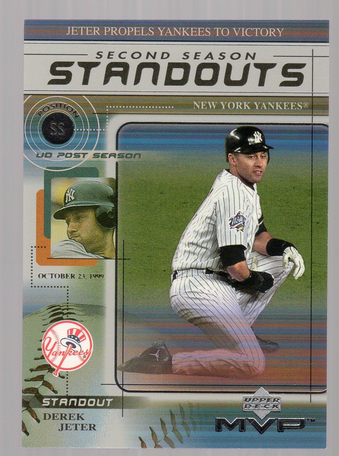 2000 Upper Deck MVP Second Season Standouts #SS9 Derek Jeter