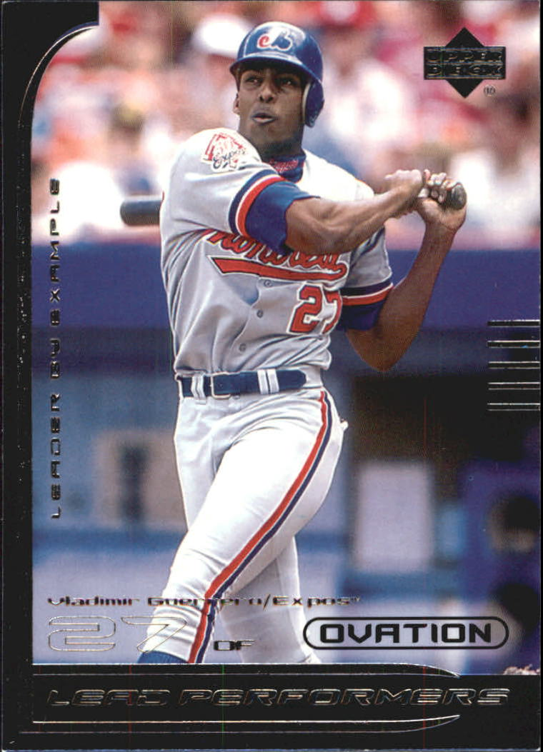 2000 Upper Deck Ovation Lead Performers #LP3 Vladimir Guerrero