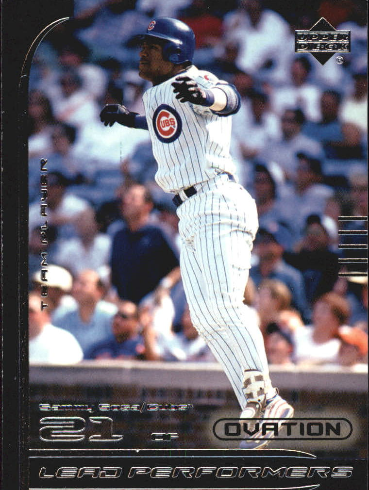 2000 Upper Deck Ovation Lead Performers #LP6 Sammy Sosa