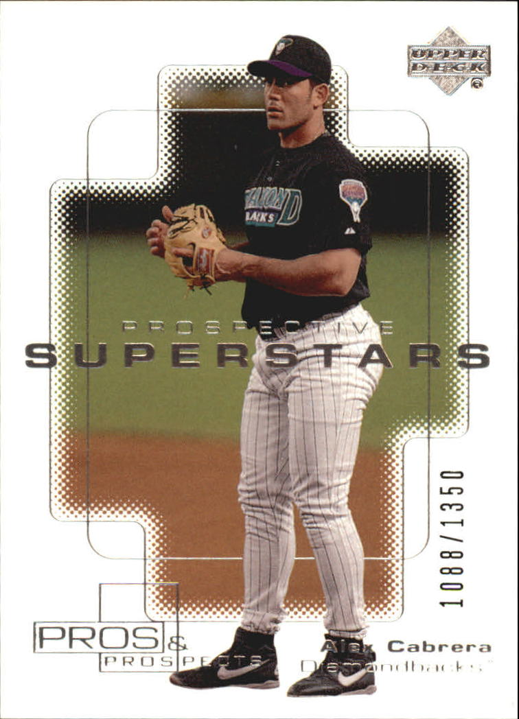 2000 Upper Deck Pros and Prospects #100 Alex Cabrera PS RC