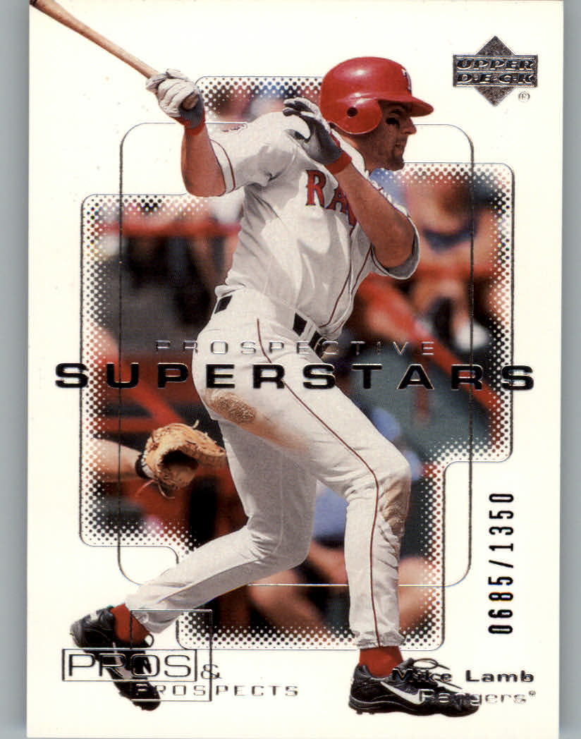 2000 Upper Deck Pros and Prospects #102 Mike Lamb PS RC