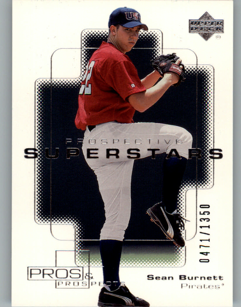 2000 Upper Deck Pros and Prospects #115 Sean Burnett PS RC