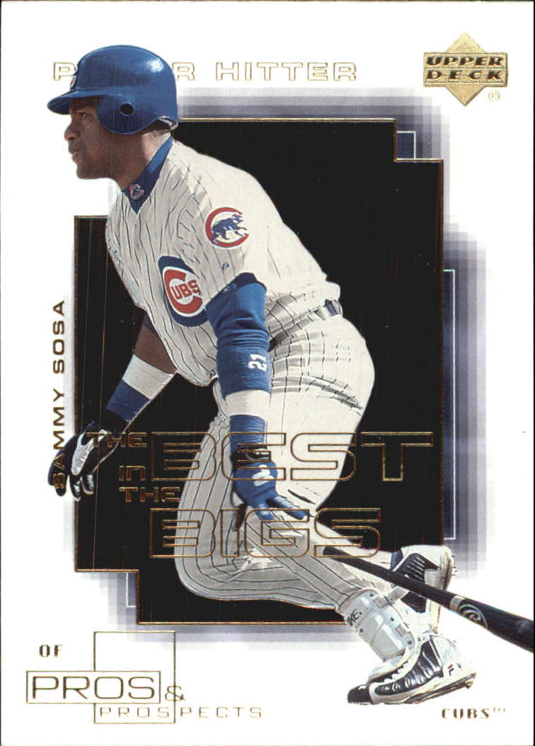 2000 Upper Deck Pros and Prospects Best in the Bigs #B1 Sammy Sosa