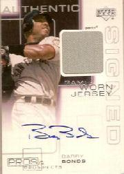 2000 Upper Deck Pros and Prospects Game Jersey Autograph #BB Barry Bonds