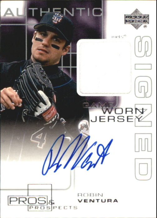 2000 Upper Deck Pros and Prospects Game Jersey Autograph #RV Robin Ventura
