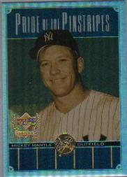 2000 Upper Deck Yankees Legends Pride of the Pinstripes #PP2 Mickey Mantle front image