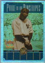 2000 Upper Deck Yankees Legends Pride of the Pinstripes #PP4 Lou Gehrig front image