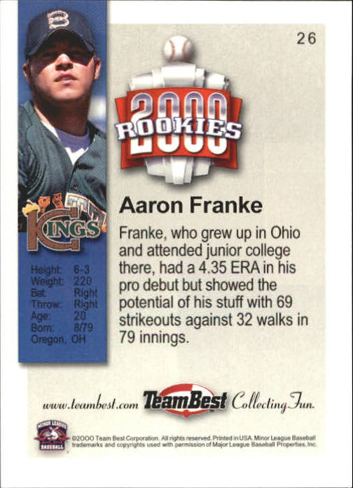 2000 Team Best Rookies #26 Aaron Franke