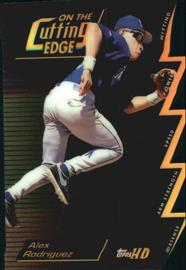 2000 Topps HD On the Cutting Edge #CE9 Alex Rodriguez