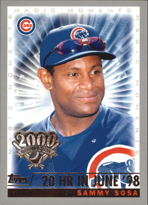 2000 Topps Opening Day #162 S.Sosa MM 20 HR June