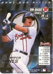 2000 MLB Showdown Home Run Hitter Promos #8 Chipper Jones