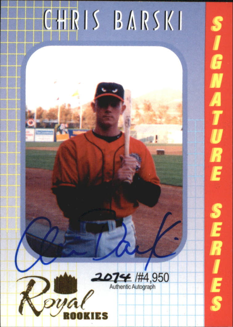 2000 Royal Rookies Autographs #20 Chris Barski