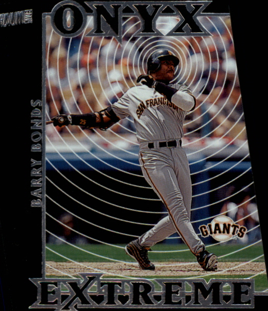 2000 Stadium Club Onyx Extreme Die Cuts #OE5 Barry Bonds