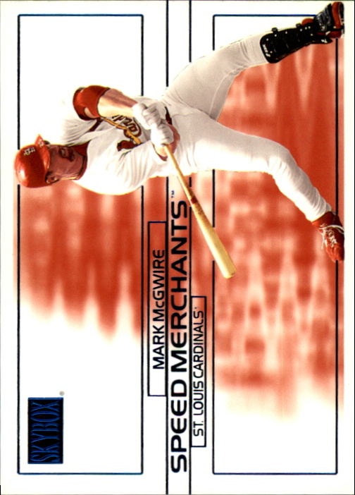 2000 SkyBox Speed Merchants #SM10 Mark McGwire