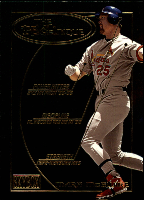 2000 SkyBox Technique #T4 Mark McGwire