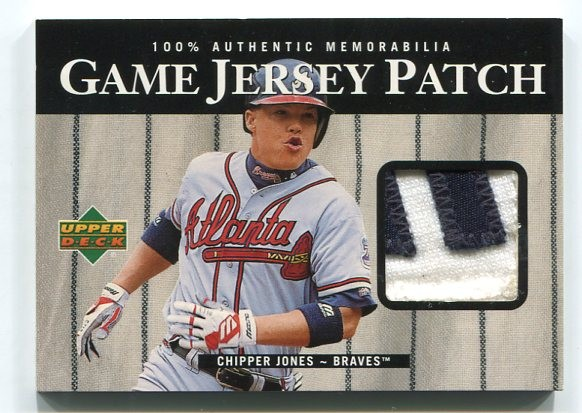 2000 Upper Deck Game Jersey Patch #PCJ Chipper Jones 1