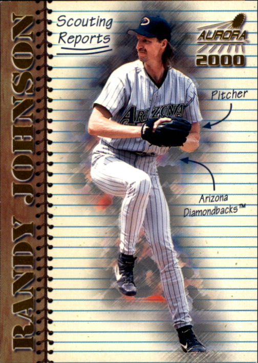 2000 Aurora Scouting Report #1 Randy Johnson front image