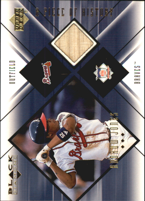 2000 Black Diamond A Piece of History #AJ Andruw Jones