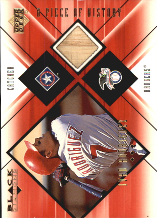 2000 Black Diamond A Piece of History #IR Ivan Rodriguez