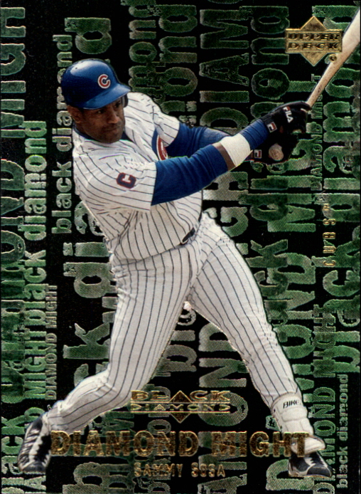 2000 Black Diamond Rookie Edition Might #M5 Sammy Sosa