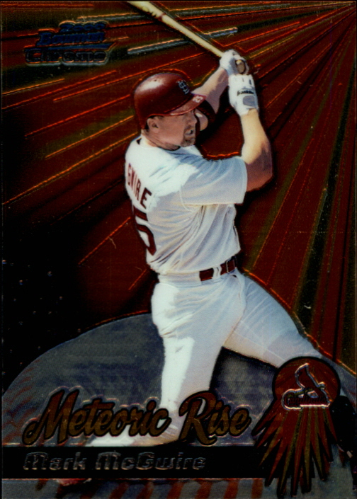 2000 Bowman Chrome Meteoric Rise #MR2 Mark McGwire