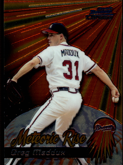 2000 Bowman Chrome Meteoric Rise #MR9 Greg Maddux