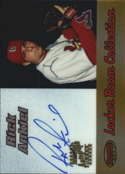 2000 Bowman's Best Locker Room Collection Autographs #LRCA2 Rick Ankiel A