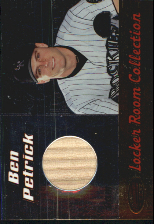 2000 Bowman's Best Locker Room Collection Bats #LRCLBP Ben Petrick