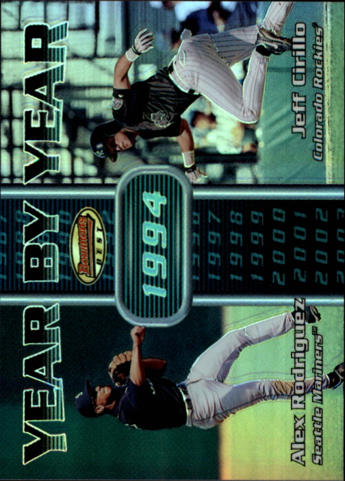 2000 Bowman's Best Year by Year #YY3 A.Rodriguez/J.Cirillo