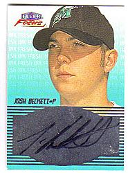 2000 Fleer Focus Fresh Ink #3 Josh Beckett