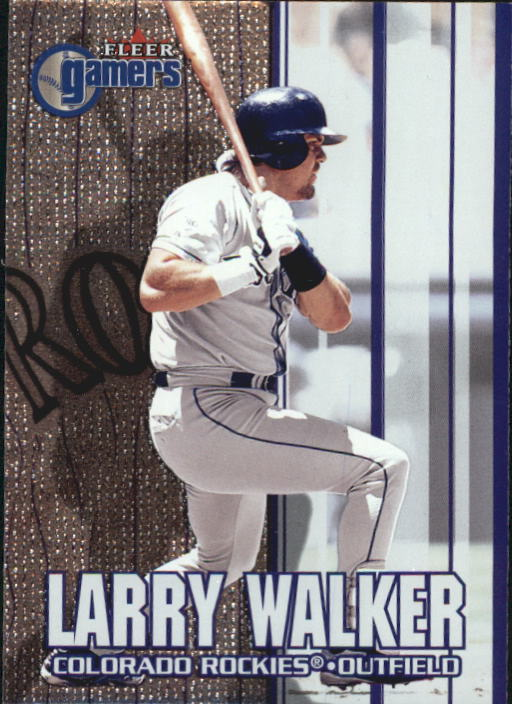 2000 Fleer Gamers #85 Larry Walker