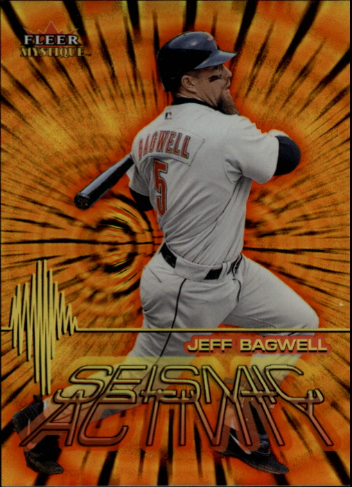 2000 Fleer Mystique Seismic Activity #SA10 Jeff Bagwell