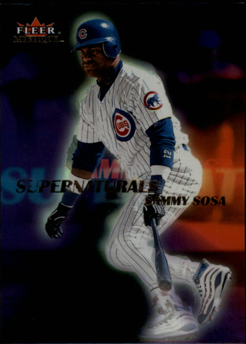 2000 Fleer Mystique Supernaturals #S9 Sammy Sosa