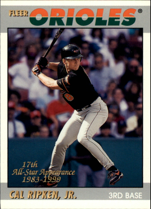 2000 Fleer Tradition Ripken Collection #9 Cal Ripken '97 Decade