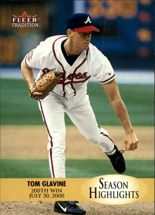 2000 Fleer Tradition Update #6 Tom Glavine SH