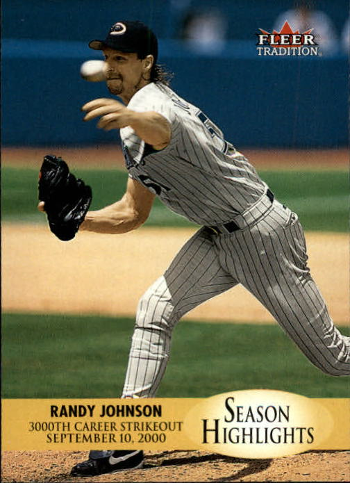 2000 Fleer Tradition Update #10 Randy Johnson SH