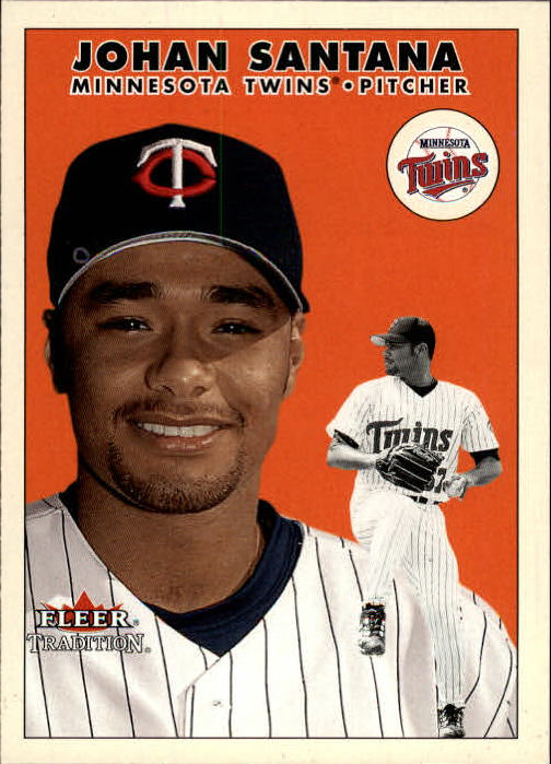 2000 Fleer Tradition Update #43 Johan Santana RC front image