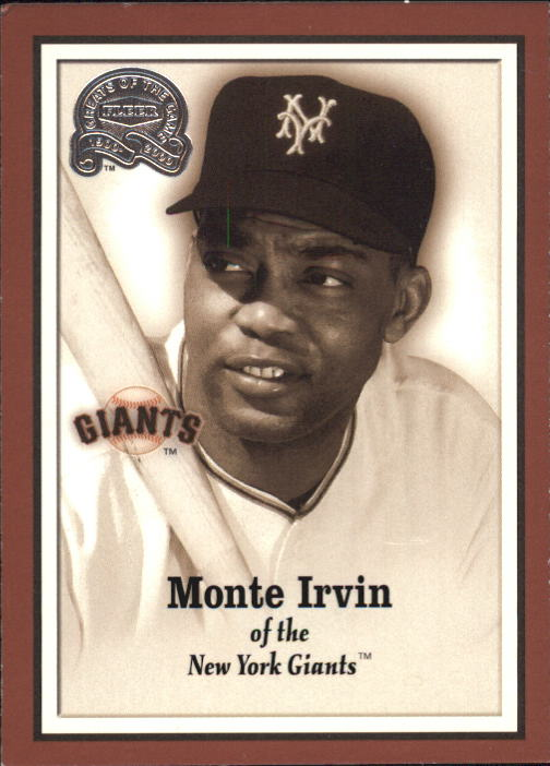 2000 Greats of the Game #3 Monte Irvin