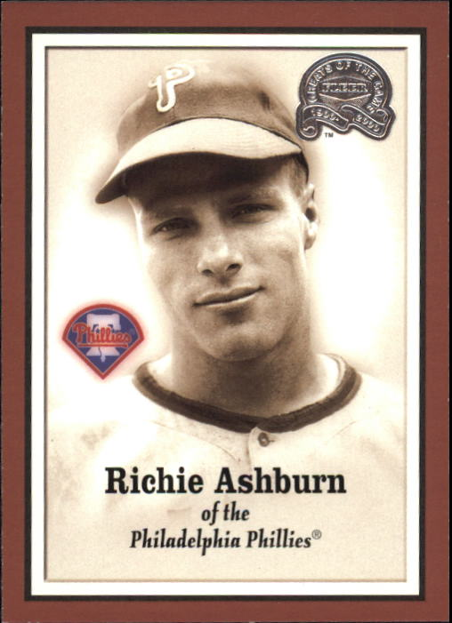 2000 Greats of the Game #6 Richie Ashburn front image