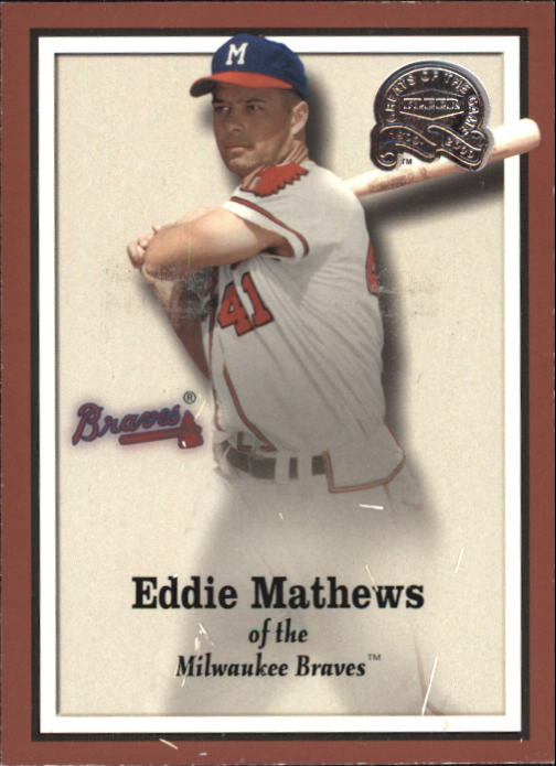 2000 Greats of the Game #10 Eddie Mathews front image