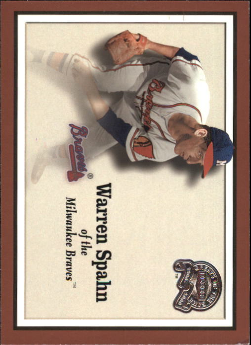 2000 Greats of the Game #63 Warren Spahn front image